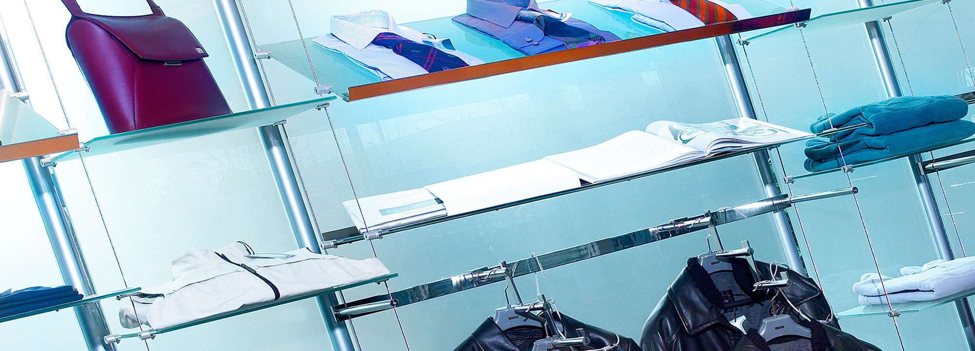 Retail interior display and shelving systems