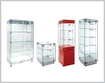 Freestanding Display Cabinets Illuminated