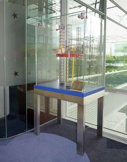 Freestanding Tall Glass Display Case With Satin Stainless Steel Support  Frame All Custom Made. See Our Section On Glass Freestanding Display  Cabinets, ...