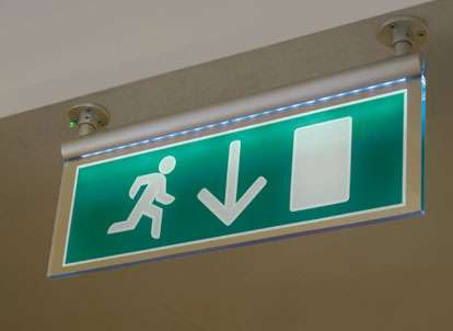 fire exit signs standard custom made shopkit group uk