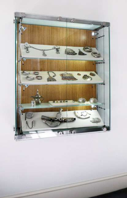 Wall Fixed Glass Trophy Cabinet Custom Made By Shopkit In UK